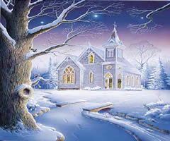 Snowy Church